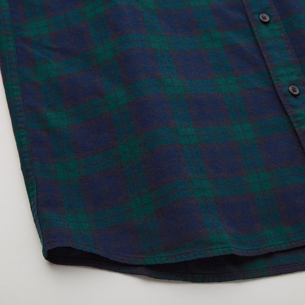 Uniqlo MEN FLANNEL CHECKED LONG-SLEEVE SHIRT (ONLINE EXCLUSIVE)
