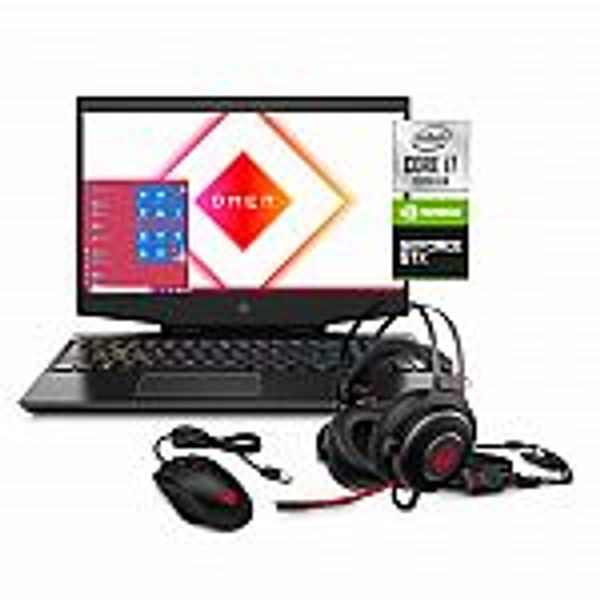 Omen by HP 15 FHD Gaming Laptop (i7-10750H, 8GB, 256GB SSD + 1TB), Mouse and Headset Bundle
