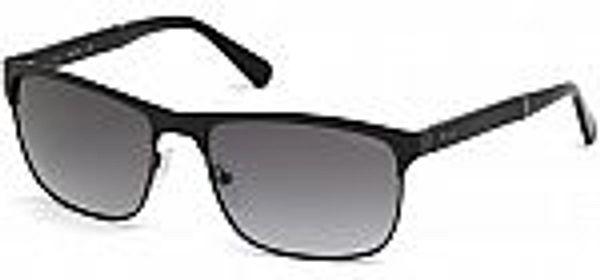 Guess Polarized Matte Black Metal brow line Sunglasses