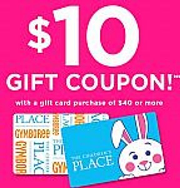 Children's Place: Get $10 gift coupon w/purchase of $40 gift card