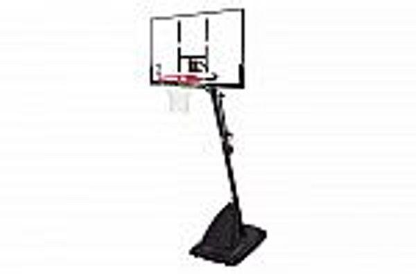 "Spalding NBA 50"" Polycarbonate Portable Basketball Hoop"