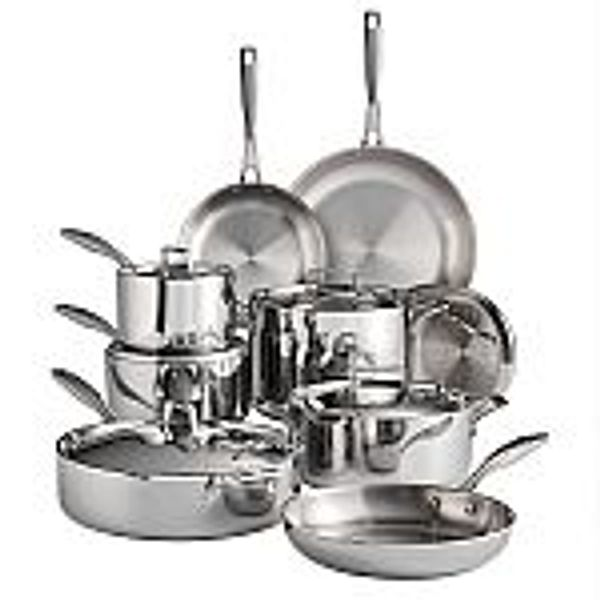 Tramontina Tri-Ply Clad 14-Piece Stainless Steel Cookware Set @Sams Club