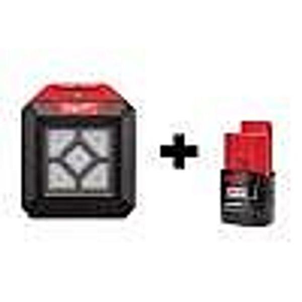 Milwaukee M12 12-Volt Cordless LED Compact Flood Light w/ M12 2.0Ah Battery @Home Depot