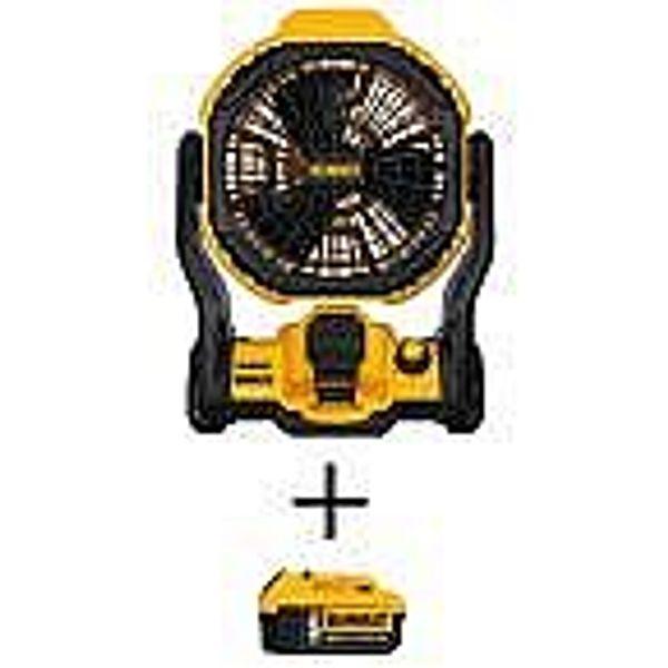 DEWALT 20V MAX Li-Ion Cordless and Corded Jobsite Fan + 5.0Ah Battery @Home Depot