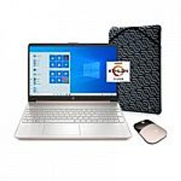 """HP 15.6"""" 15-ef1073wm HD Laptop (Athlon N3050 4GB 128GB) Rose Gold"""