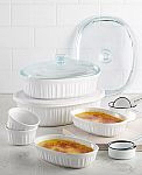 Corningware French White 10-Piece Bakeware Set @Macy's