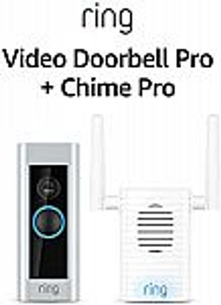 Ring Video Doorbell Pro with Ring Chime Pro (1st Gen) (Certified Refurbished)