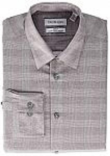 Calvin Klein Men's Non-Iron Slim Fit Stretch Dress Shirt (Burgundy Check) @Amazon