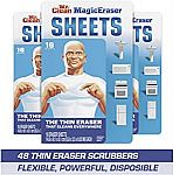 3 pack Mr. Clean Magic Eraser Sheets, 16 Ct (Total 48 scrubbers) @Amazon