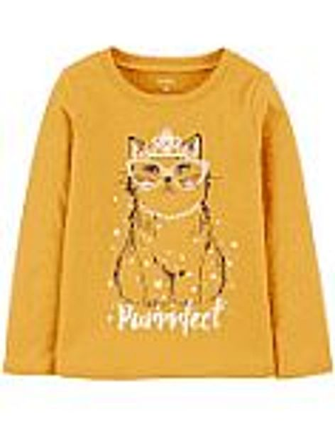 Carters Girl Cat Jersey Tee On Sale Now