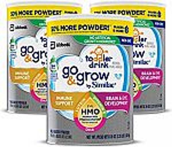 3-Count Similac Go & Grow Toddler Milk-Based Powder