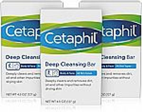 3-Ct Cetaphil Deep Cleansing Face & Body Bar