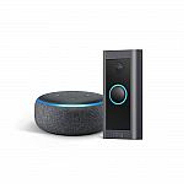 Prime Members: Ring Video Doorbell Wired bundle with Echo Dot (Gen 3)