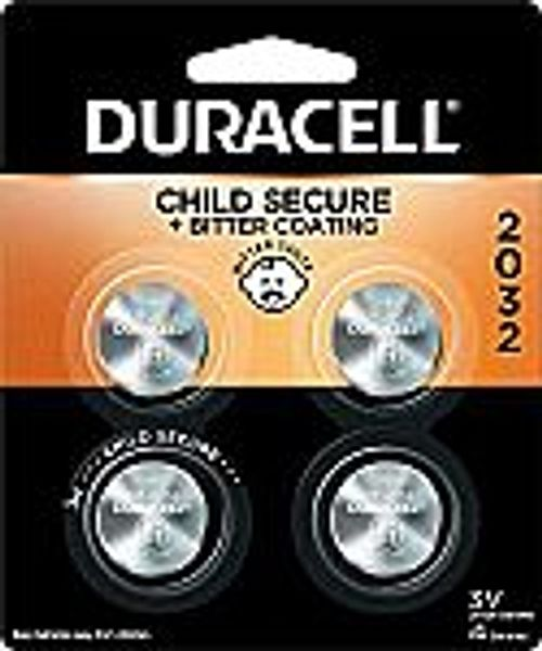 4 count Duracell 2032 3V Lithium Coin Battery with Bitter Coating @Amazon