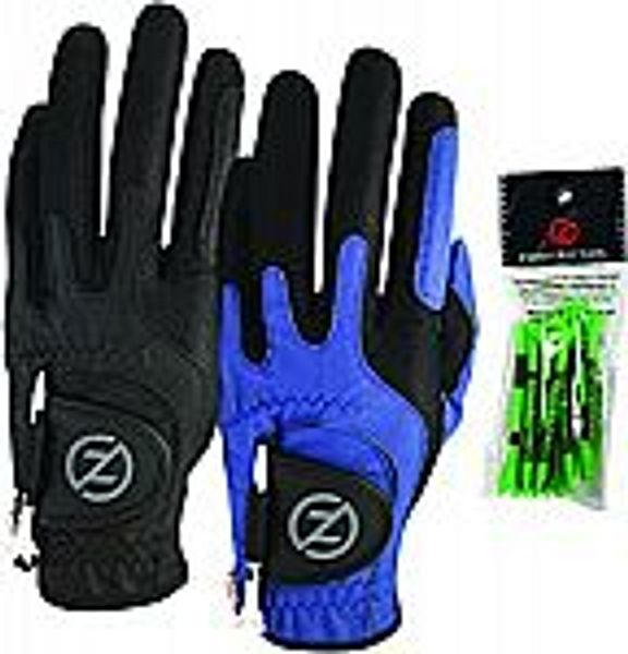 2-Pack Zero Friction Men's Compression-Fit Synthetic Golf Glove @Amazon