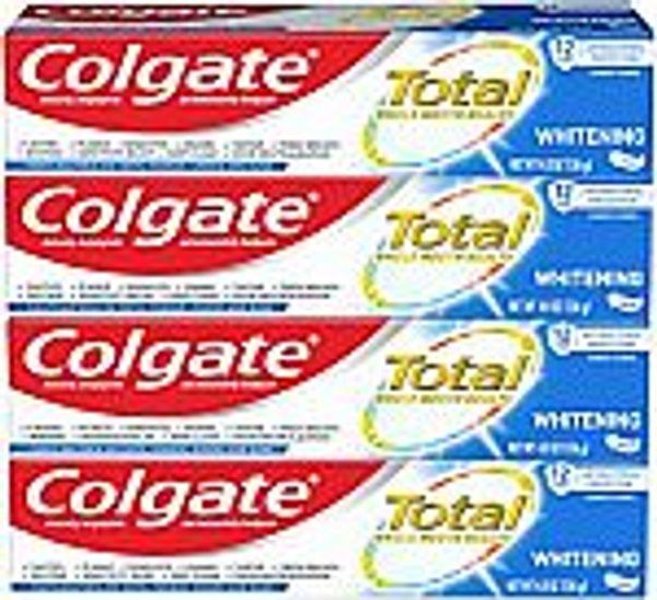 4-Pack 4.8 Oz Colgate Total Whitening Toothpaste @Amazon