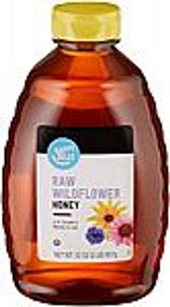 32 oz Happy Belly Raw Wildflower Honey @Amazon