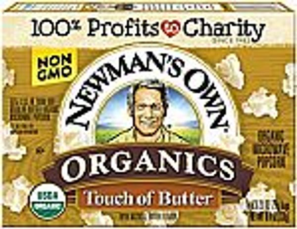 12-Pack 8.4-oz Newman's Own Organics Microwave Popcorn (Touch of Butter) @Amazon