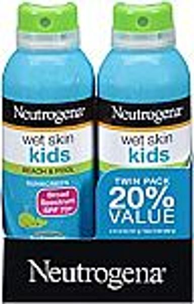 2-Pack 5-oz Neutrogena Wet Skin Kids Sunscreen Spray SPF 70+