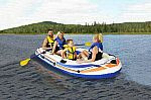 Pathfinder 4 PERSON Inflatable Raft Boat With Pump