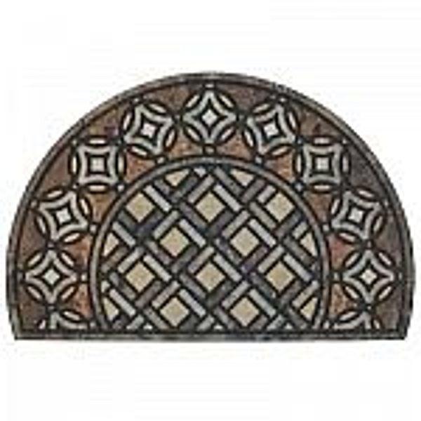 Mohawk Home Deco Tile Slice Brown 23 in. x 35 in. Doorscapes Estate Mat