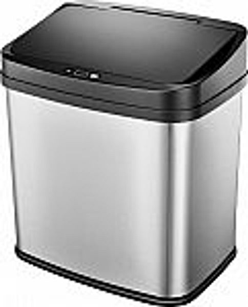 Insignia 8 Gal. Automatic Trash Can - Stainless steel