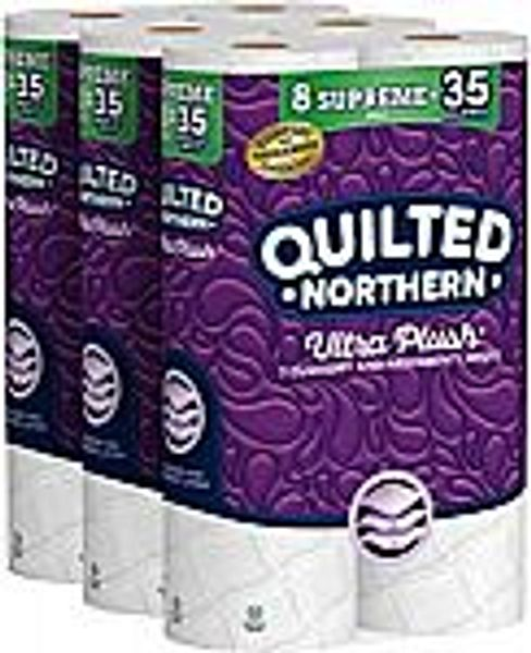 24-Ct Quilted Northern Ultra Plush Toilet Paper (Supreme Rolls)