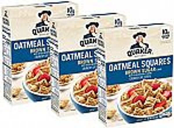 3-Pk Quaker Oatmeal Squares Breakfast Cereal