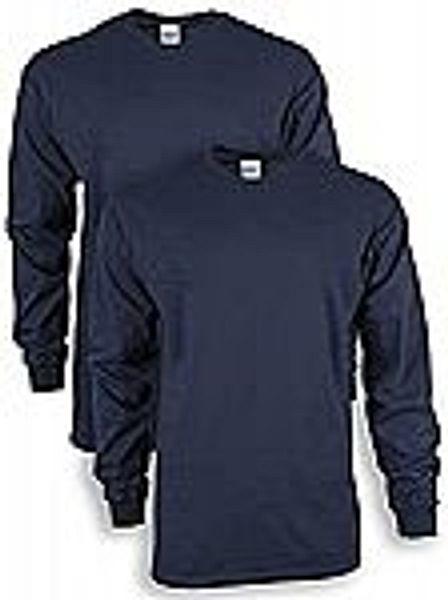 2-Pack Gildan Men's Ultra Cotton Long Sleeve T-Shirt (Various Colors)