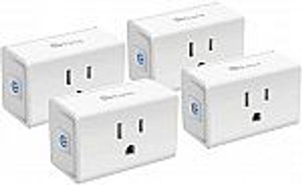 4-Pack Kasa Smart Plug Mini 15A, Smart Outlet