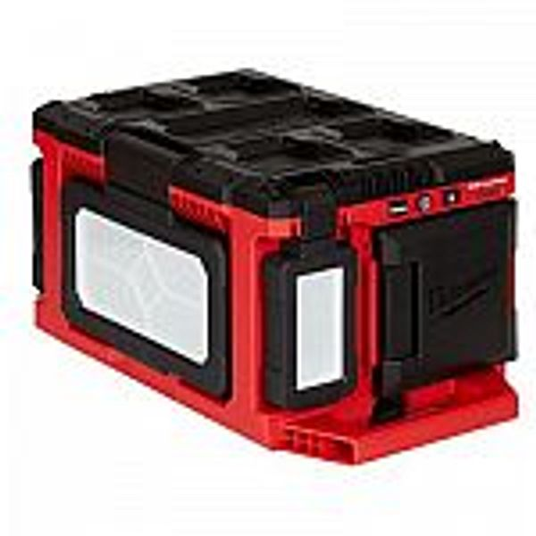 Milwaukee M18 18V PACKOUT 3000 Lumens LED Light + 5.0 Ah Lithium-Ion Battery Pack