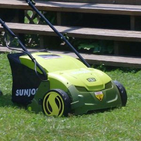 Sun Joe AJ801E Electric Lawn Dethatcher w/ Collection Bag , 13 inch - 12 Amp
