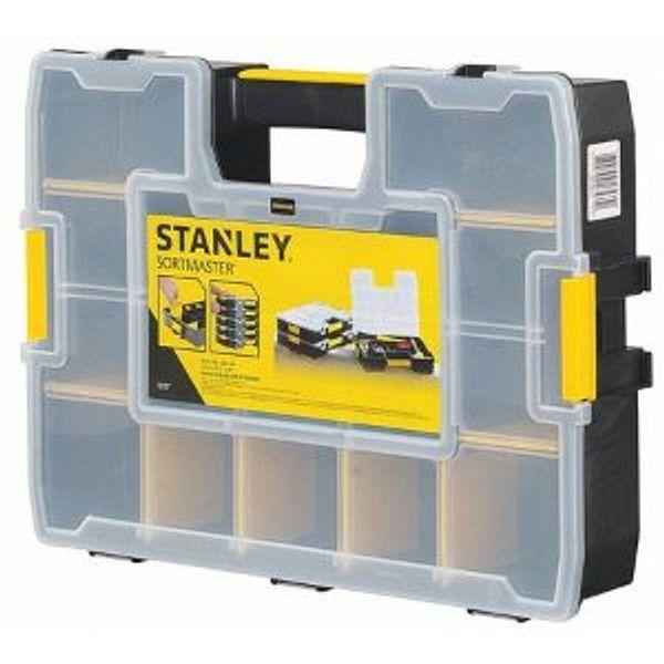 STANLEY Adjustable Compartment Box,Plastic,Black STST14027