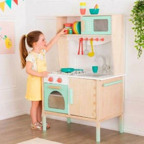B. toys Wooden Play Kitchen
