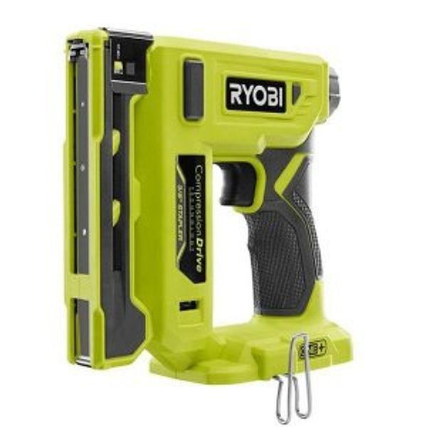 """Ryobi 18V ONE+ Cordless 3/8"""" Crown Stapler (Tool Only)"""