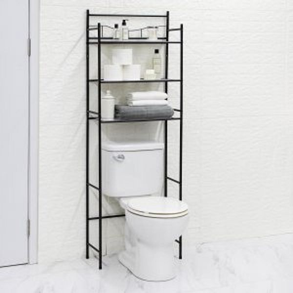 Mainstays 3-Shelf Bathroom over the Toilet Space Saver with Liner
