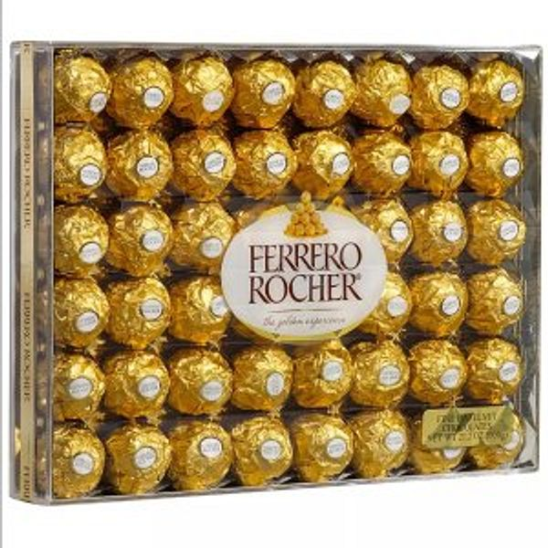errero Rocher Fine Hazelnut Chocolates 48 Counts
