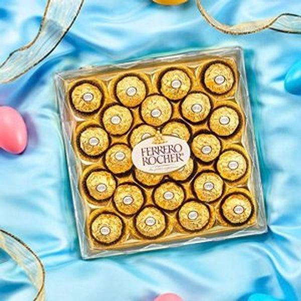 Ferrero Rocher Fine Hazelnut Milk Chocolate, 24 Count