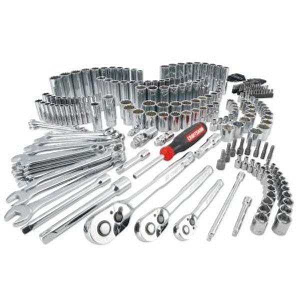 CRAFTSMAN 243-Piece Standard and Metric Combination Polished Chrome Mechanics Tool Set