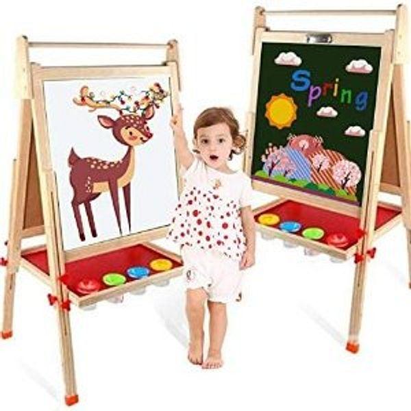 EAQ Easel for Kid,Height Adjustable Wooden Art Ease @Amazon