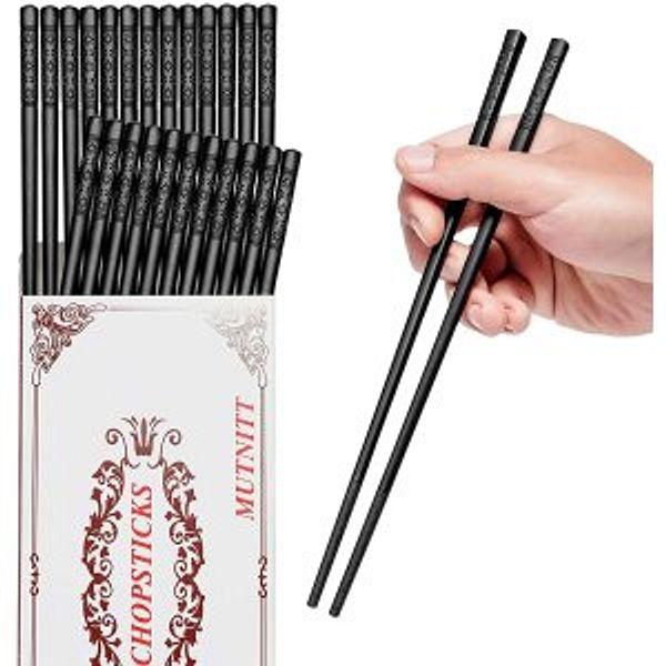 MUTNITT 14 Pairs Fiberglass Chopsticks @Amazon