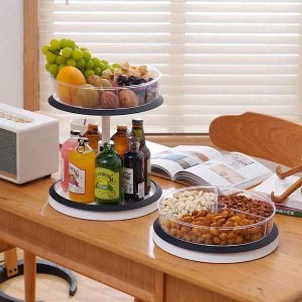 SEALON 360 Degrees 2-Tier Kitchen Rotatable Shelf @Amazon.com