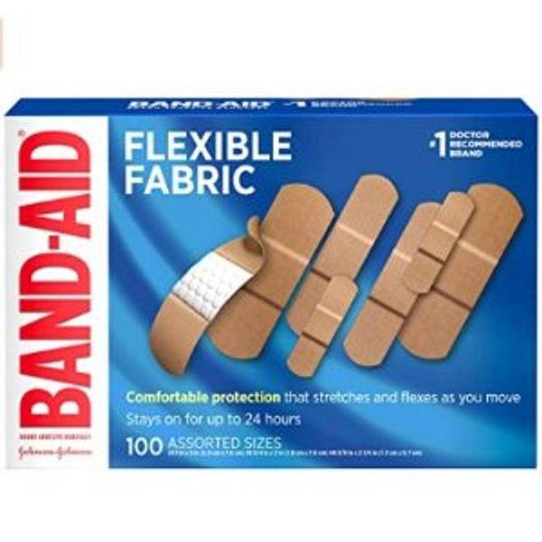 Band-Aid Brand Flexible Fabric Adhesive Bandages,100 ct, Beige