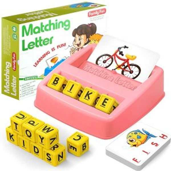 HahaGift Educational Toys Matching Letter Learning Games