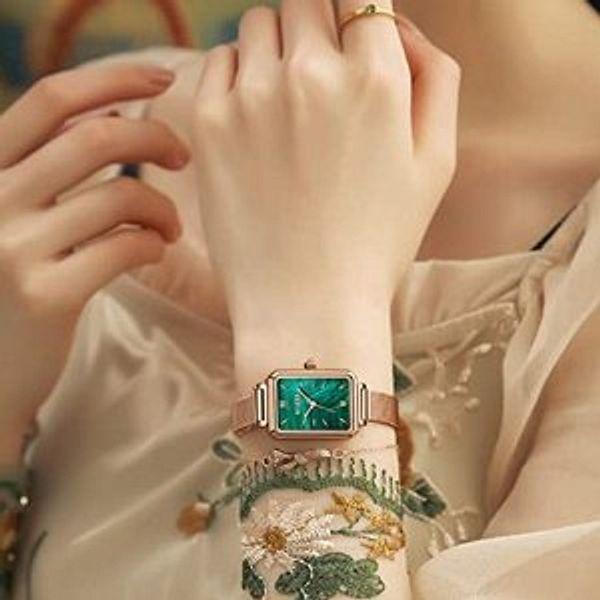 OLEVS Fashion Retro Square Watches @Amazon