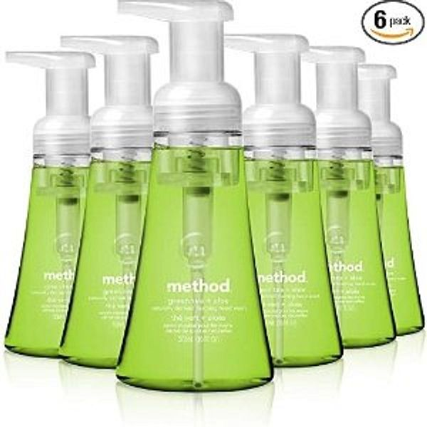 Method Foaming Hand Soap, Green Tea + Aloe, 10 Fl Oz (Pack of 6)