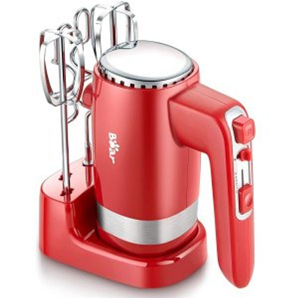Bear 2x5 Speed 300W Electric Hand Mixer with 4 Stainless Steel Accessories @Amazon