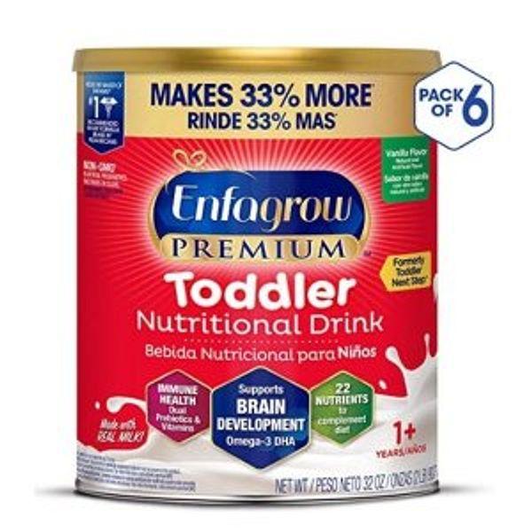 Amazon Enfagrow PREMIUM Toddler Nutritional Drink, 32 oz Powder Can (Pack of 6)