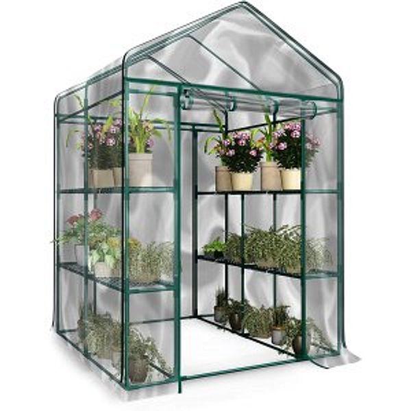 Home-Complete Walk-in Greenhouse-Indoor Outdoor with 8 Shelves @Amazon.com
