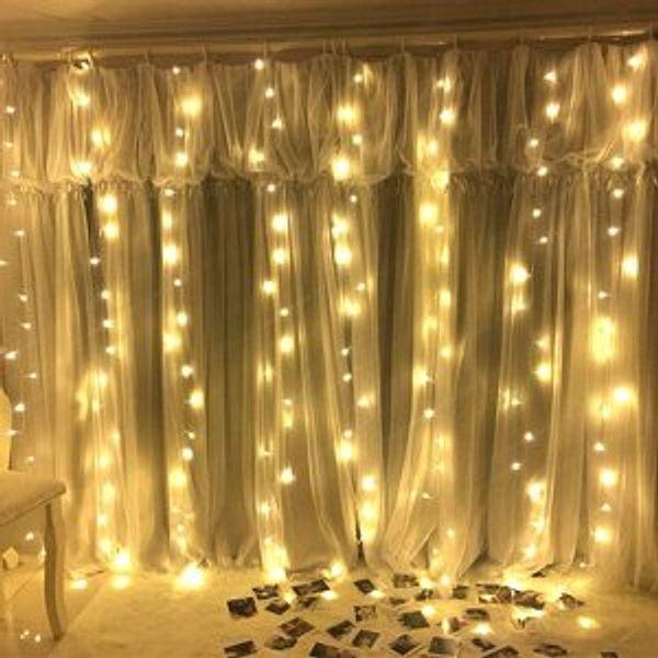 Window Curtain Lights 300 LED, 8 Lighting Modes Remote Control @Amazon